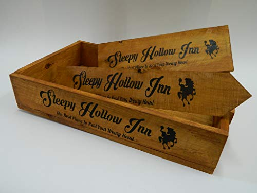 rustic rhetoric signs Sleepy Hollow Inn, Halloween, Old Western, Country Primitive, Distressed, Wood Stenciled Sign 5