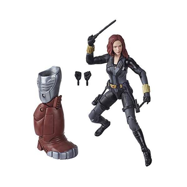 Marvel Hasbro Black Widow Legends Series 6-inch Collectible Black Widow Action Figure Toy, Premium Design, 6 Accessories…