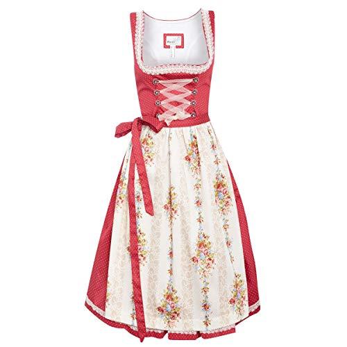 af9ecef441671 MarJo Trachten Damen Trachten-Mode Midi Dirndl Babia in Rot traditionell