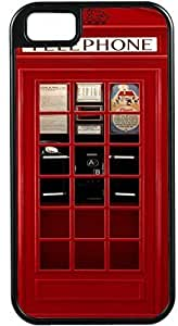 Nice British Phone Booth Design Black Tough-It Case Cover for iPhone 4 & 4s (Double Layer case with Silicone Protection) by ruishername