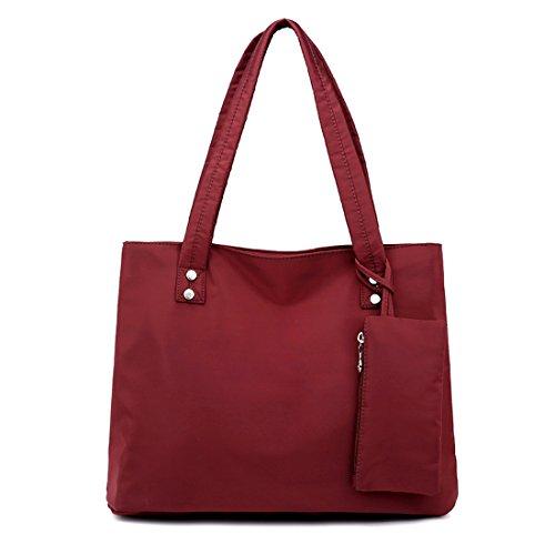 Alovhad Women Handbag Shoulder Bags Purse Waterproof Nylon Tote Travel hobo Bags Purse (Red) by Alovhad (Image #1)