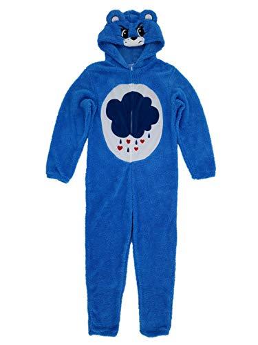 Care Bears Mens Plush Grumpy Bear Costume Union Suit Pajamas XL Blue -