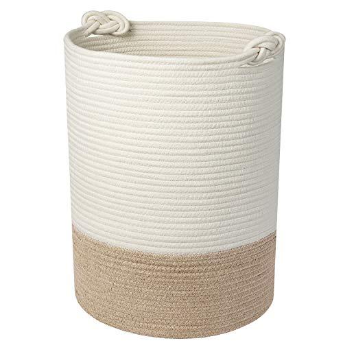 UBBCARE Large Cotton Rope Laundry Basket Woven Blanket Basket Baby Laundry Hamper Toy Storage Bin 18