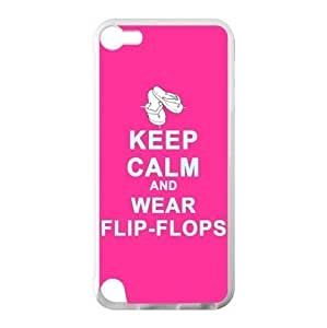 keep calm and wear flip flops.Funny Flip Flops,Slippers art,Sandals Diy For Iphone 5C Case Cover 100% PC(Laser Technology) Durable Case, Cover