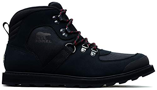 Sorel - Men's Madson Sport Hiker Waterproof Leather Boots, Black, 12 M US