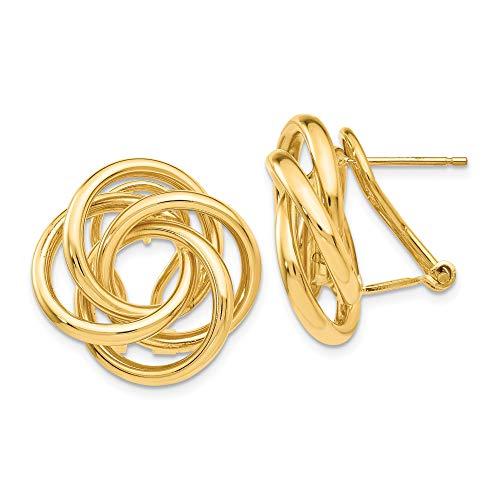 14k Love Knot Tube Earrings...