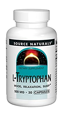 Source Naturals L-Tryptophan 500mg, 30 Capsules