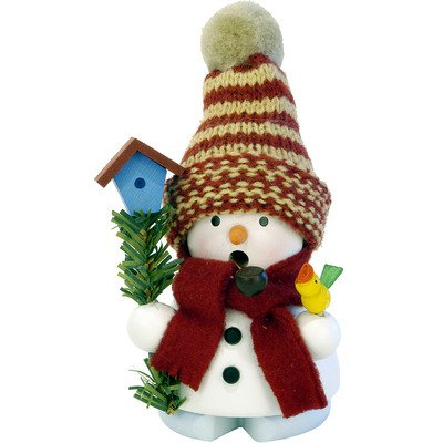 Christian Ulbricht Snowman with Birdhouse Incense Burner