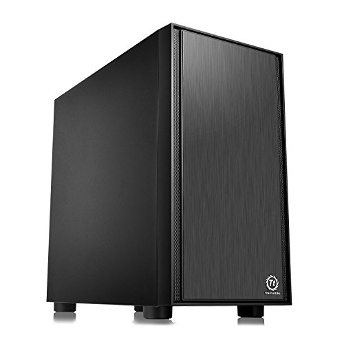 Thermaltake Versa H17 Black SPCC Micro ATX Mini Tower Gaming Computer Case CA-1J1-00S1NN-00
