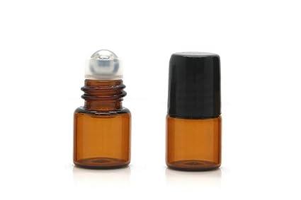 Marrón Pack de 6 1 ml/2ml rollo en botellas de cristal ámbar con bolígrafo