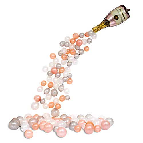 Giant Champagne Bottle Balloon Arch Kit - 94 Pink/Rose Gold Inflatable Garland Party Supplies Decorations, Bridal Shower Wedding Birthday Bachelorette Graduation Anniversary Backdrop, DIY Centerpiece