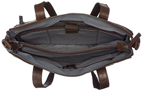 De Marrón dark Bag Zip Sparrow Carteras Con Mano Spikes amp; Mujer Brown Asa q4ZPSX