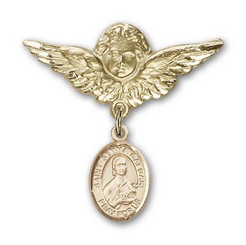 Icecarats Or Bijoux De Créateurs Rempli R. Charme Ange La Broche De Badge De Gemma 1 1/8 X 1 1/8