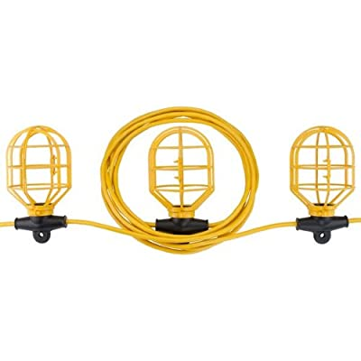 Bayco SL-7408 10-Light String Light with Non Metallic Lamp Guards, 100-Feet