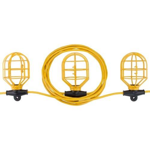 Bayco SL-7408 10-Light String Light with Non Metallic Lamp Guards, 100-Feet