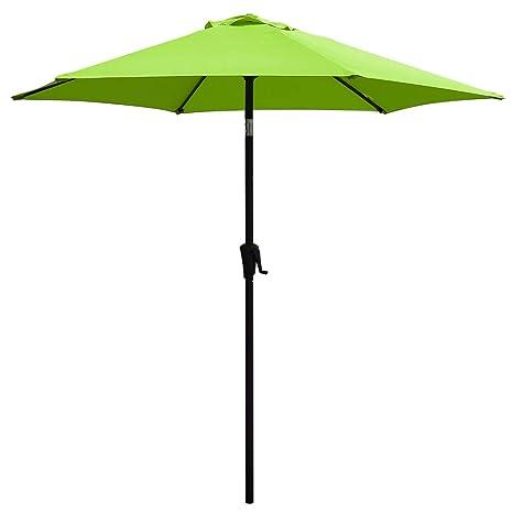 Attrayant COBANA Patio Umbrella, 7.5u0027 Outdoor Table Market Umbrella Push Button  Tilt/Crank,