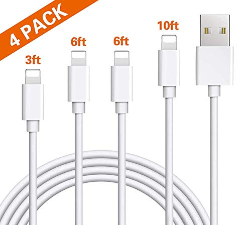 Micro USB Cable, 10FT Extra Long USB to Micro USB Android Charger Cord, PS4 Cable High Speed Playstation 4 USB Charging Cables for Android Smartphones, Tablets, MP3, XBOX, and More 3Pack (Red)