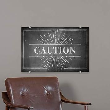 5-Pack 27x18 Chalk Burst Premium Brushed Aluminum Sign Caution CGSignLab