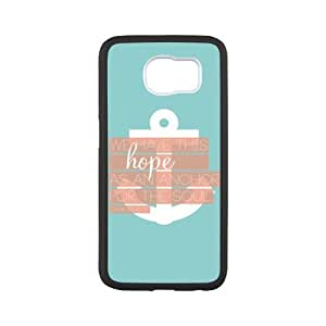 Bible Verse Samsung Galaxy S6 Protective Case - We Have This Hope As an Anchor for the Soul Hebrew 6:19 Samsung Galaxy S6 Case Cover TPU Laser Technology Rubber Sides Shell