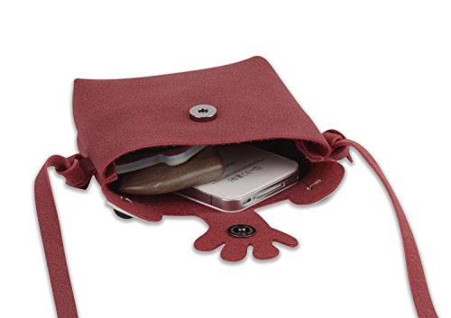 Shouder Phone Red PU Purse Wallet Frog Pouch Girls Crossbody Mini for Bag Teens Handbags Cell Cute Leather 6xaHvqn