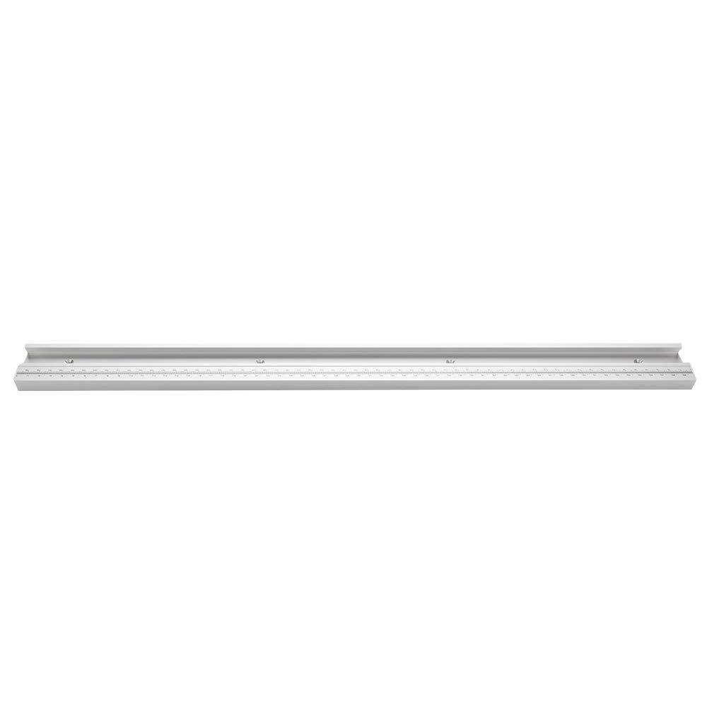 400mm Doolland Pista de inglete de Aluminio T-Track para carpinter/ía con Ranura en T con Tope de inglete de Escala