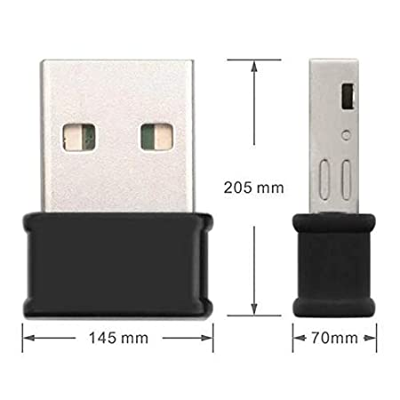 Justdodo Mini Adaptador USB WiFi 802.11ac Dongle Tarjeta de Red 2.4G y 1200Mbps 5G Receptor de Doble Banda Wi-Fi inalámbrica de Escritorio del ...