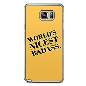 Samsung Note 5 Transparent Edge Phone Case Nicest Bad Phone Case World Phone Caes Attitude Phone Case Slay