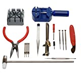 16 piece watch repair kit - 16 Pieces Pc Watch Repair Kit Set Pin Strap Remover Opener Battery Change Tool