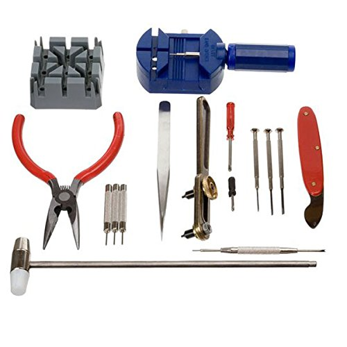 16 Pieces Pc Watch Repair Kit Set Pin Strap Remover Opener Battery Change Tool For Sale
