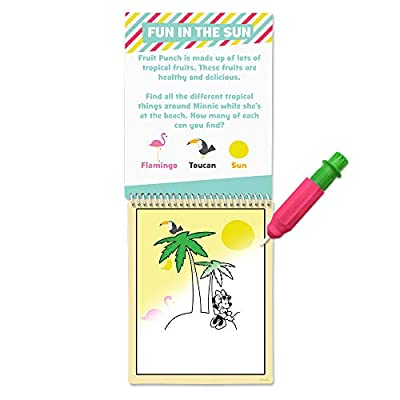 Scentco Water Magic - Scented Reusable Water Reveal Activity Book - Minnie Mouse's Tropical Adventure (Fruit Punch): Toys & Games