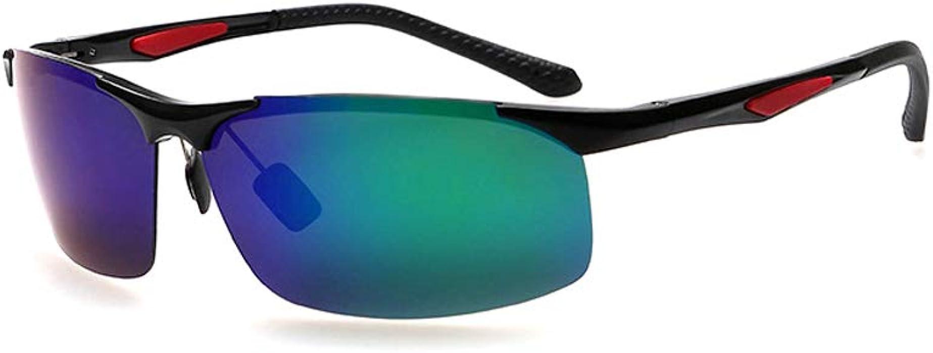 98d86607a9 Ronsou Men s Sport Aluminium-Magnesium Polarized Sunglasses For Driving  Cycling Fishing Golf Glasses black frame