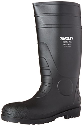 Tingley 31251.13 Pilot 15-in Cleated Steel Toe Knee Boot, Size 13, Black