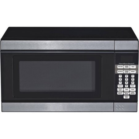 Hamilton Beech .7 cubic foot 700 watt stainless steel and black microwave (Cheap Small Microwave compare prices)