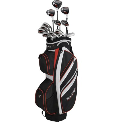 Tour Edge Men's Backdraft GT Plus Complete Set (Right Hand, Graphite/Steel, Regular, White)