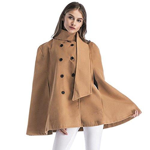 Solid Buckle FYM Color Windbreaker row Khaki COAT size Big Coat Cloak Double DYF XXXXL Loose ZpxwXf7p