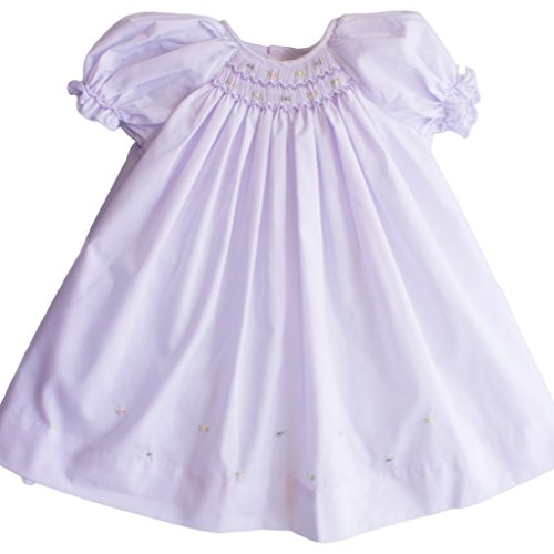 Lavender 9 Months - Petit Ami Baby Girls' Daydress with Embroidered Hem, 9 Months, Lavender