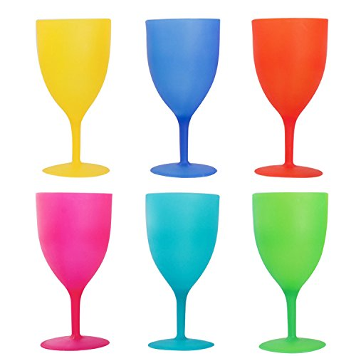 Colorful Plastic Picnic/Party Supply Set - Plastic Goblets - 6 Pieces]()