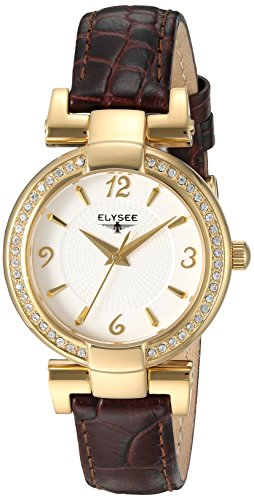 ELYSEE Women's 33032N Ladies-Edition Analog Display Quartz Brown Watch