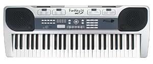Funkey 54-MIC - Teclado (54 teclas, micrófono, 10 sonidos, 10 ritmos, 8 canciones demo)