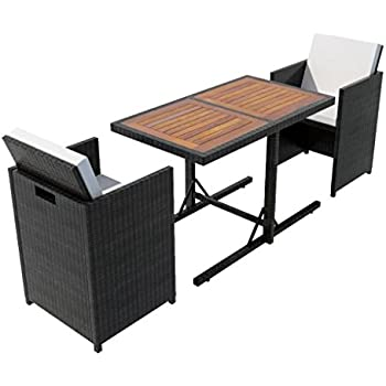 Set Giardino In Rattan.Amazon Com Festnight 3 Piece Garden Bar Set Poly Rattan Patio