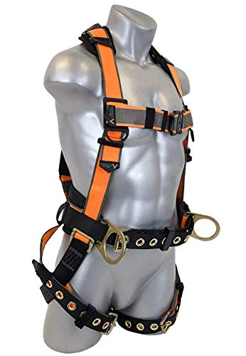 Warthog MAXX Side D-Ring Harness with Removable Belt and Additional Padding (XXXL), OSHA/ANSI Compliant ()