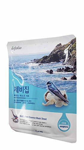 5 Mask Sheets of Esfolio Bird's Nest Essence Mask Sheet. (23 ml/ - Poster Sunshades Print