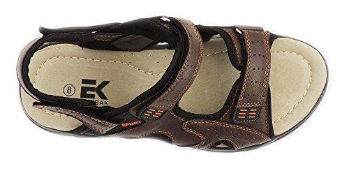Ny Mote Eurbak Menns Sport Strand Sandal Komfort Sko Light Weight 1505 Brun