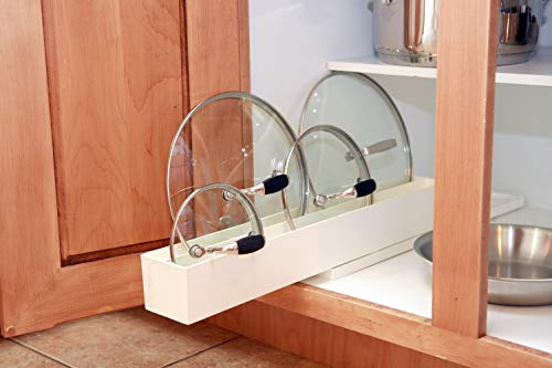 Kitchen Dial Industries, Inc. Pull Out Pot and Pan Lid Organizer pot lid holders