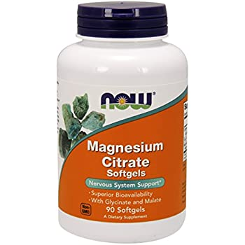 NOW Magnesium Citrate,90 Softgels