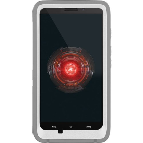 OtterBox Defender Series Case for Motorola DROID MAXX - Retail Packaging - White/Gray