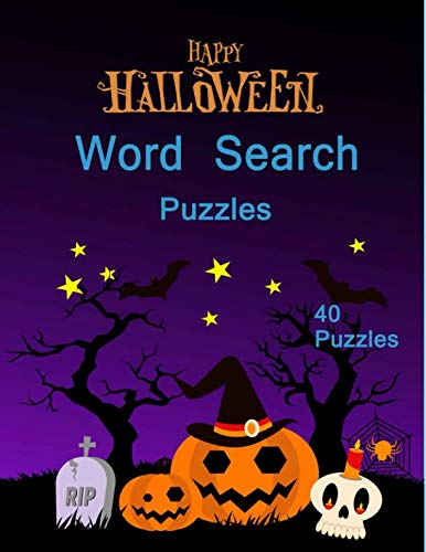 Happy Halloween Word Search Puzzles: 40 Puzzles Easy Book For adults and Kids -
