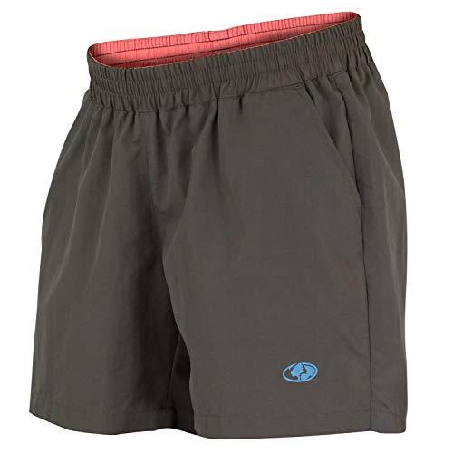 Mossy Oak Women's Swim & Fishing Quick Drying Shorts, Charcoal, X-Large
