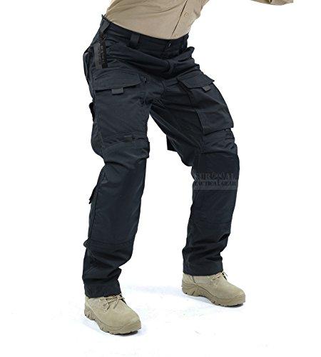 ZAPT Tactical Molle Ripstop Combat Trousers Army Multicam / A-TACS LE Camo Pants for Men (Black, XL38)