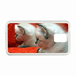 Personality customization Custom Fashion Design Samsung Galaxy S5 Back Cover Case Personalized Customized Diy Gifts In Kittens my friend White By CUY Cases